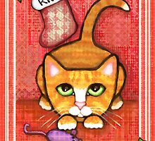 Orange Tabby Cat's Christmas by Jamie Wogan Edwards
