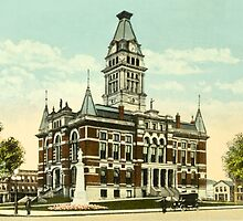 Washtenaw Co. Courthouse, Ann Arbor, MI 1910 by Bob Fox