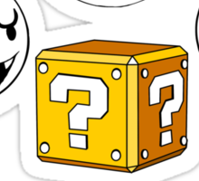 The Boos have the question box Sticker