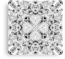 """""""Spirit of India: Fleur and Cross"""" in white, grey and black Canvas Print"""