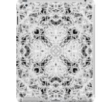 """Spirit of India: Fleur and Cross"" in white, grey and black iPad Case/Skin"