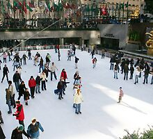 Ice Skating Rink at Rockefeller Center - NYC by eelsblueEllen