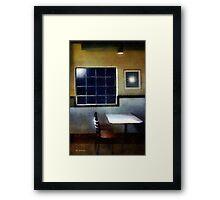 Late Night Café Framed Print