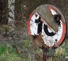 Worn Out Road Sign by Caroline Smalley