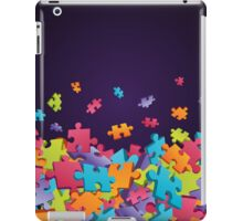 Dark Puzzle Pieces iPad Case/Skin