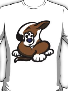English Bull Terrier Kicking Back Brown and White  T-Shirt