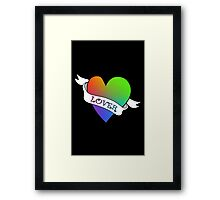 Lover's Heart (Black)  Framed Print