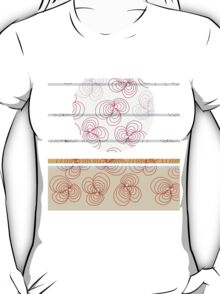 Abstract Flower design T-Shirt