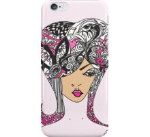 Madamoiselle Mimi Feminine Illustration  iPhone Case/Skin