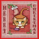 Merry Christmas Cat T-Shirt by Jamiecreates1