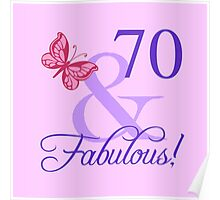 Fabulous 70th Birthday For Her Poster