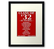 Class of '32 Leavers' Hoodie/Shirt Framed Print