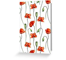 Poppies pattern Greeting Card