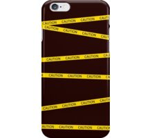 Caution iPhone Case/Skin