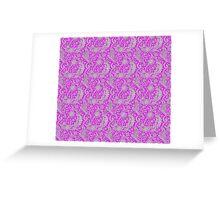 Purple Lace Fantasy Pattern Greeting Card