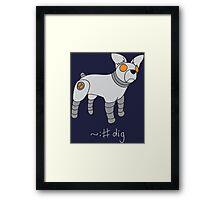Angrybot: Prompt Dog Framed Print