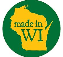 Made in WI - Green Circle by aaronarthur