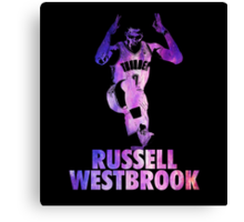 Russell Westbrook Galaxy Canvas Print