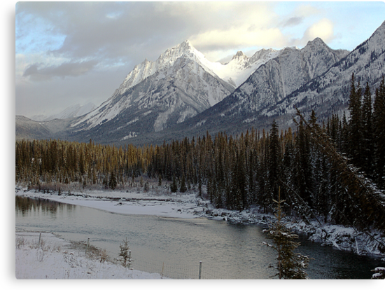 Early winter snowfall, Banff National Park by George Cousins