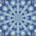 Blue Chrome Kaleidoscope 02 by fantasytripp