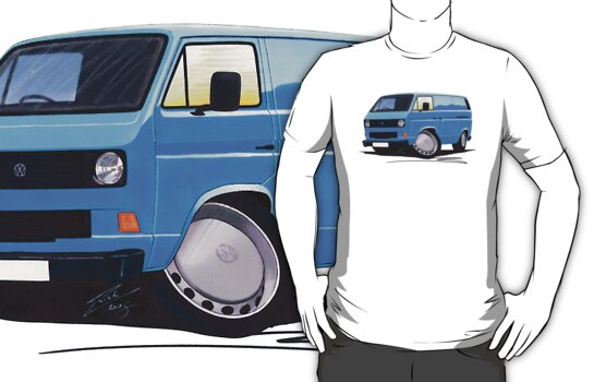 VW T25 Transporter Van Blue by Richard Yeomans