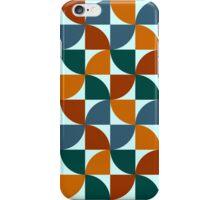 Blue and Orange Mid Century Mod iPhone Case/Skin