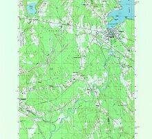 Maine USGS Historical Map Newport 806956 1982 24000 by wetdryvac