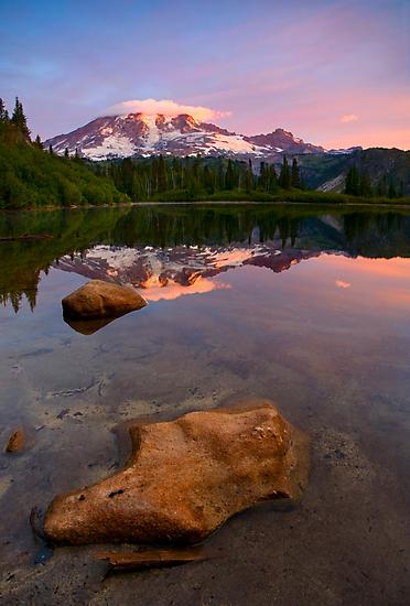 Red Mountain Dawn by DawsonImages