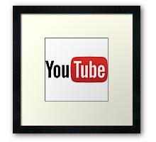 YouTube Full Logo - Red on White Framed Print