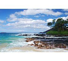 Pa'ako Beach, Makena ~Morning light Photographic Print