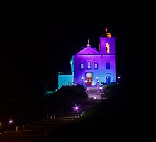Night view of Nossa Senhora de Nazareth Church by Frans Harren