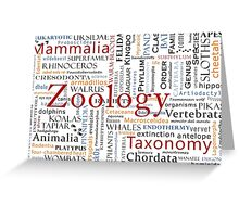 Mammals In Typography Greeting Card