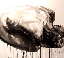 Clutching Crouching Figure 3 by Josh Bowe