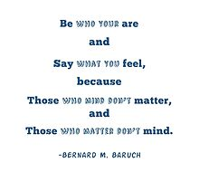 Be Who You Are by BookConfessions