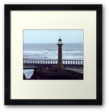 Harbour Light - Whitby by Trevor Kersley
