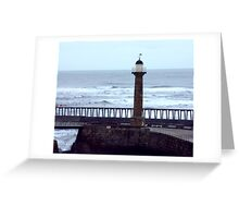 Harbour Light - Whitby Greeting Card