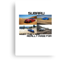 Subaru.. What they are really made for!  Canvas Print