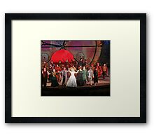 Cast of WICKED Framed Print