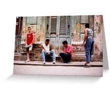 havana street chess  Greeting Card