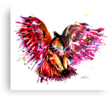 Flying Owl Metal Print