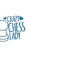 Crazy Chess Lady with chess pieces pawns by jazzydevil