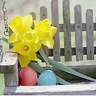 Easter Eggs and Daffodils by Jayca