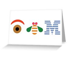 Eye Bee M Greeting Card