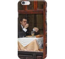 Memories of Spain 3 - Lonely Man Dinner in Madrid's Latin Quarter iPhone Case/Skin