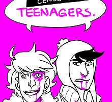 Teenagers scare the living shit out of me by Really-Lame-Art