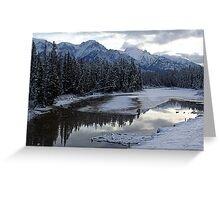 Reflections of Winter, Rocky Mountains Greeting Card