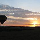 Balloons at sunrise, Masai Mara by Mel1973