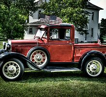 """""""Proud To Be An American""""  (Model A Ford) by raberry"""