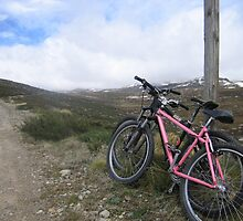bikes on a mountain by ailsamarshall