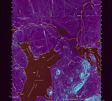 Maine USGS Historical Map North East Carry 808130 1954 62500 Inversion by wetdryvac